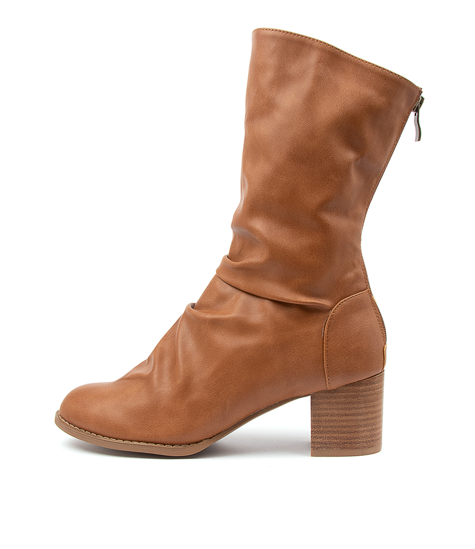Buy I Love Billy Joan Il Tan Calf Boots online with free shipping
