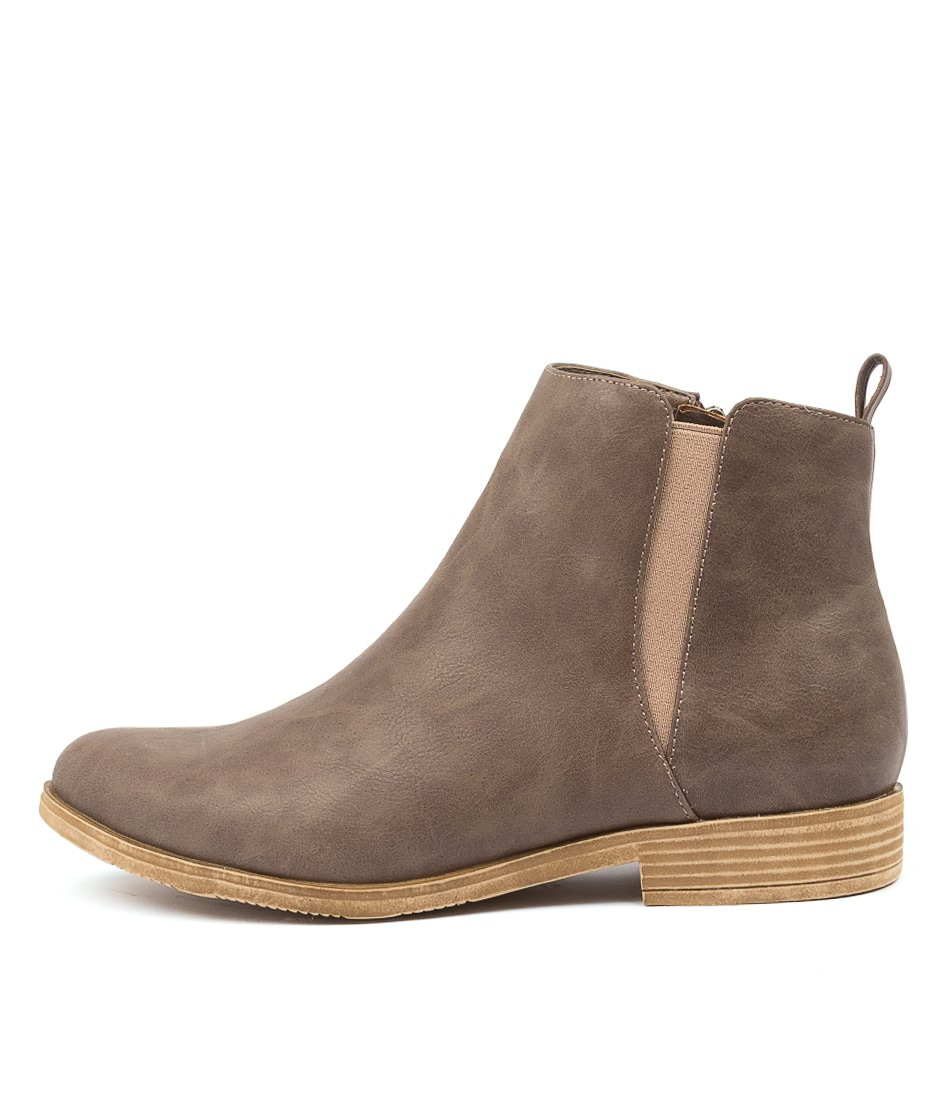 Buy I Love Billy Kenley Il Dk Taupe Ankle Boots online with free shipping