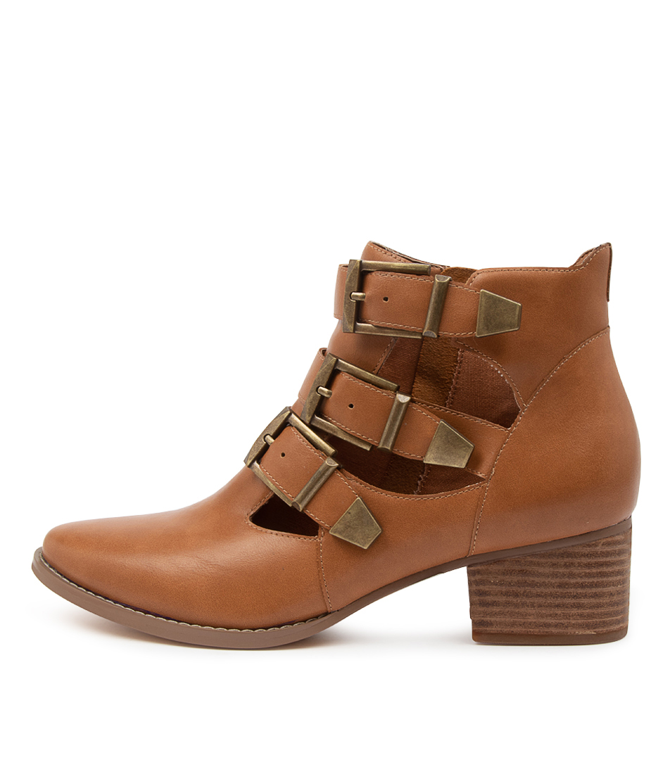 Buy I Love Billy Lettie Il Tan Ankle Boots online with free shipping