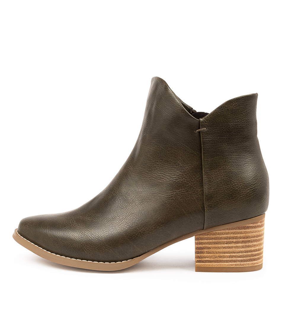 Buy I Love Billy Lexa Il Olive Ankle Boots online with free shipping