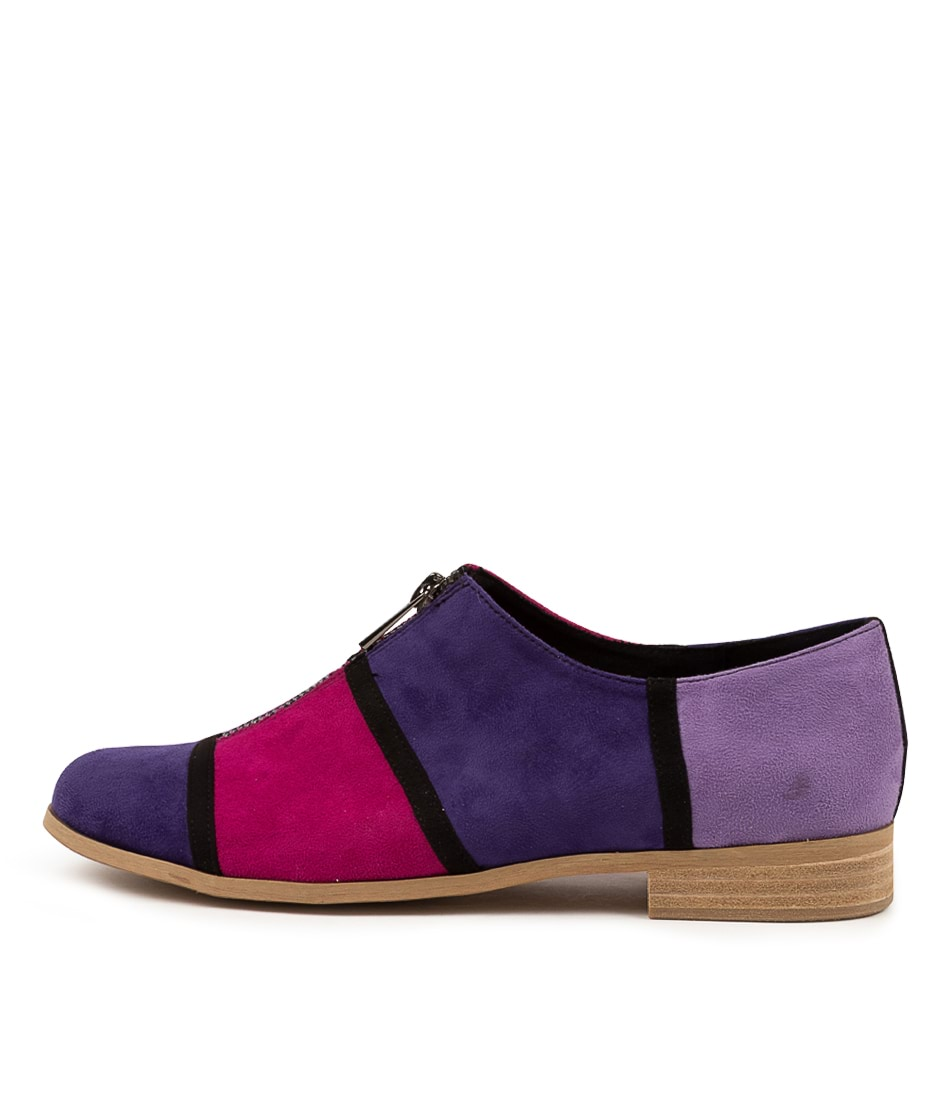 Buy I Love Billy Qier Il Purple Multi Flats online with free shipping
