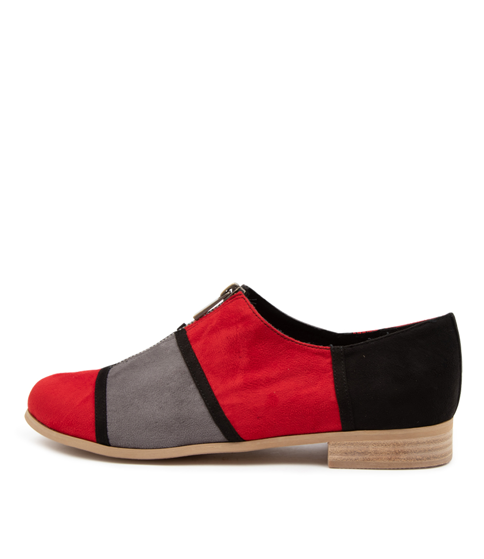 Buy I Love Billy Qier Il Red Grey Flats online with free shipping