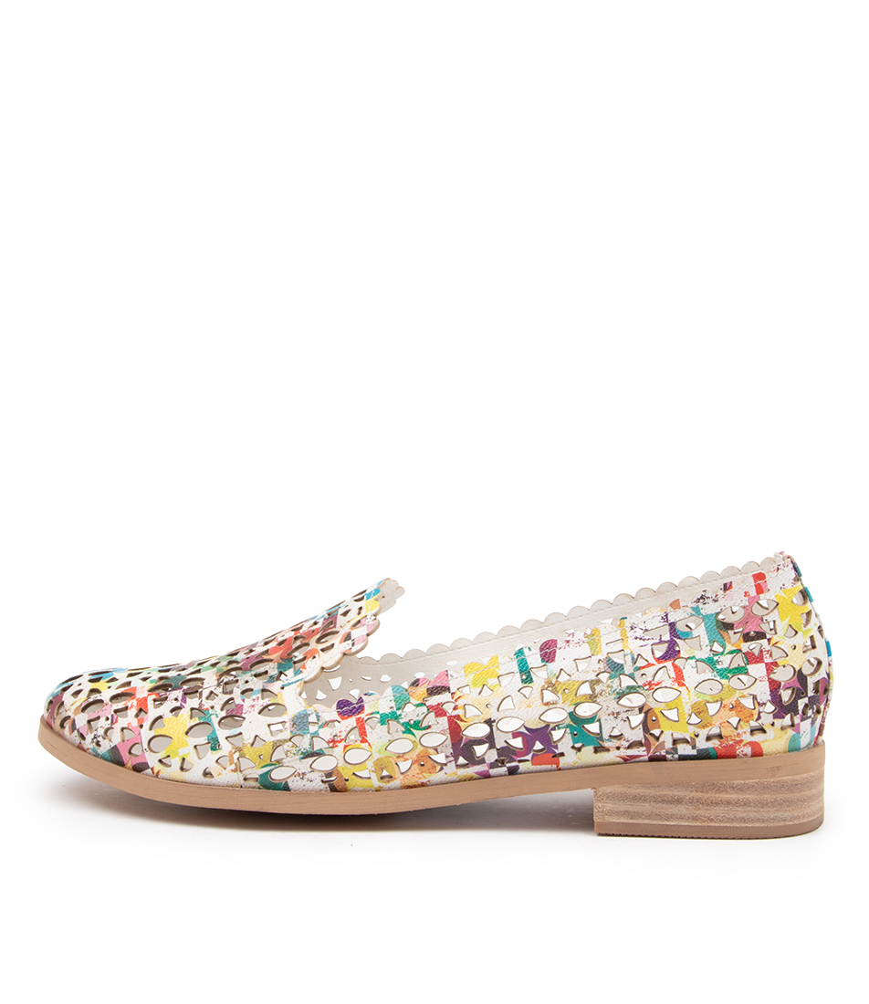 Buy I Love Billy Qaisy Il White Abstract Flats online with free shipping