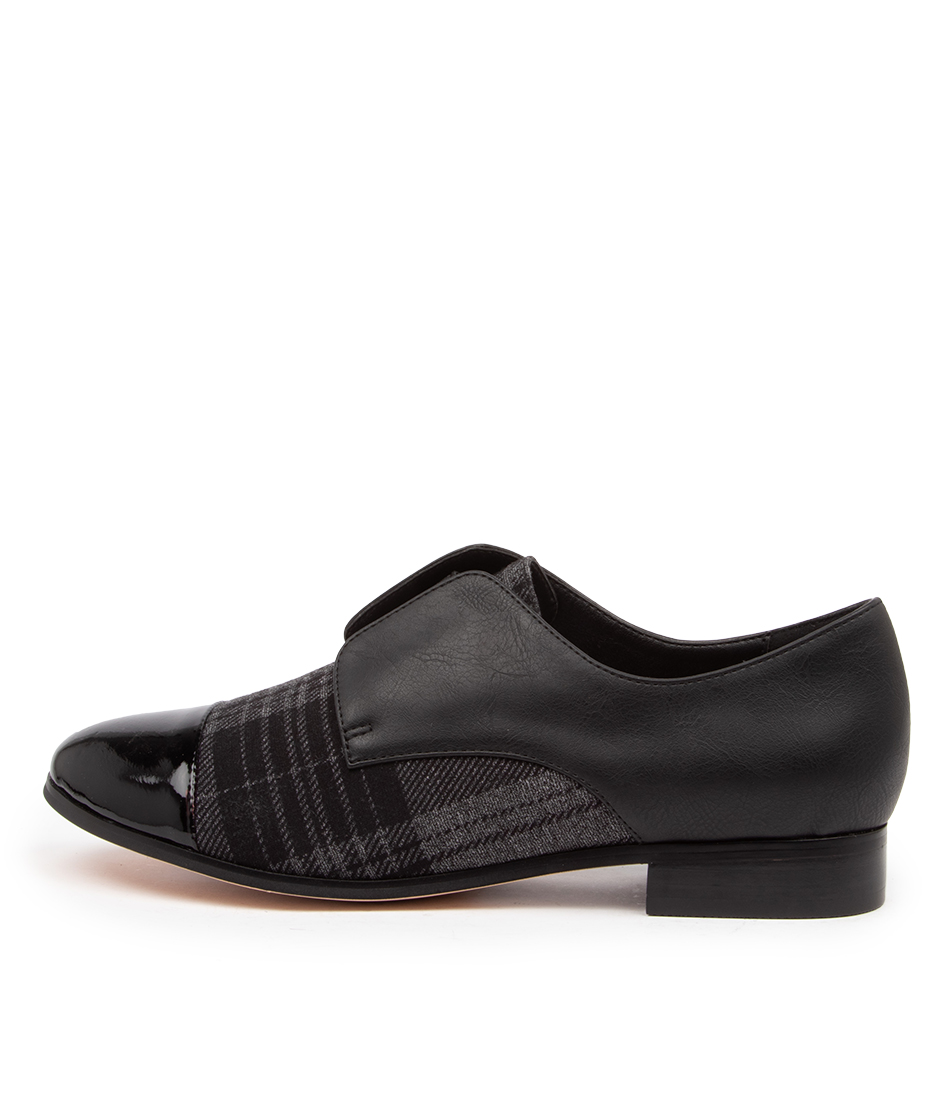 Buy I Love Billy Riga Il Black Grey Check Flats online with free shipping