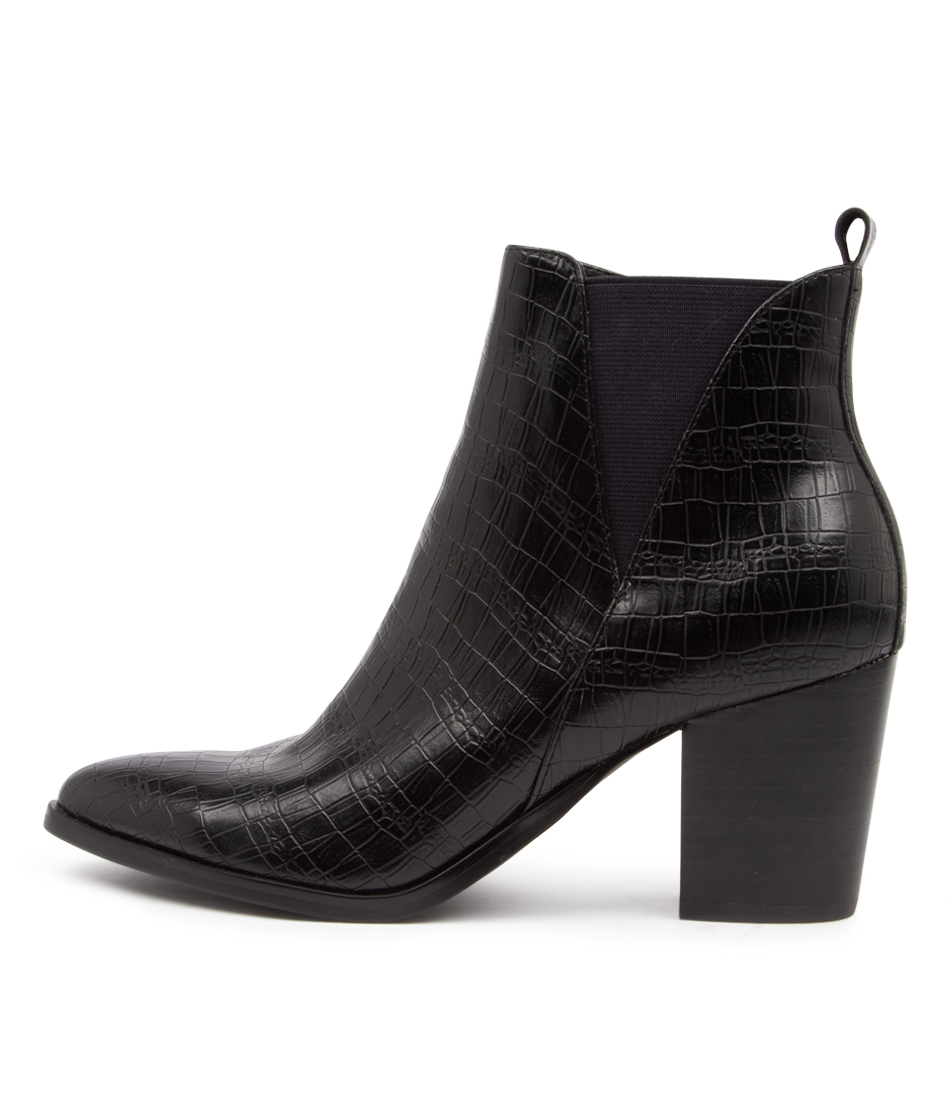 Buy I Love Billy Tyrion Il Black Croc Ankle Boots online with free shipping