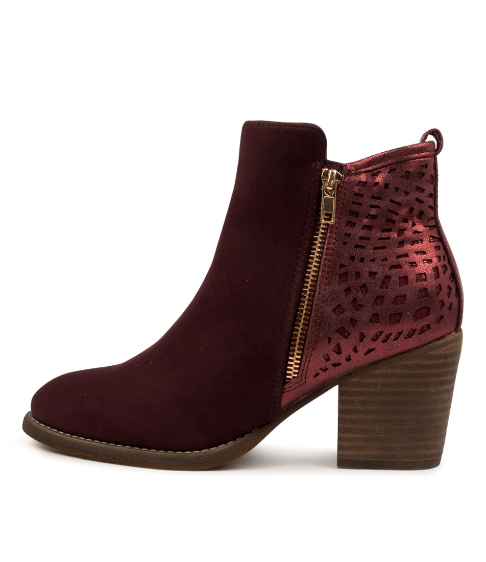 Buy I Love Billy Helant Il Wine Ankle Boots online with free shipping