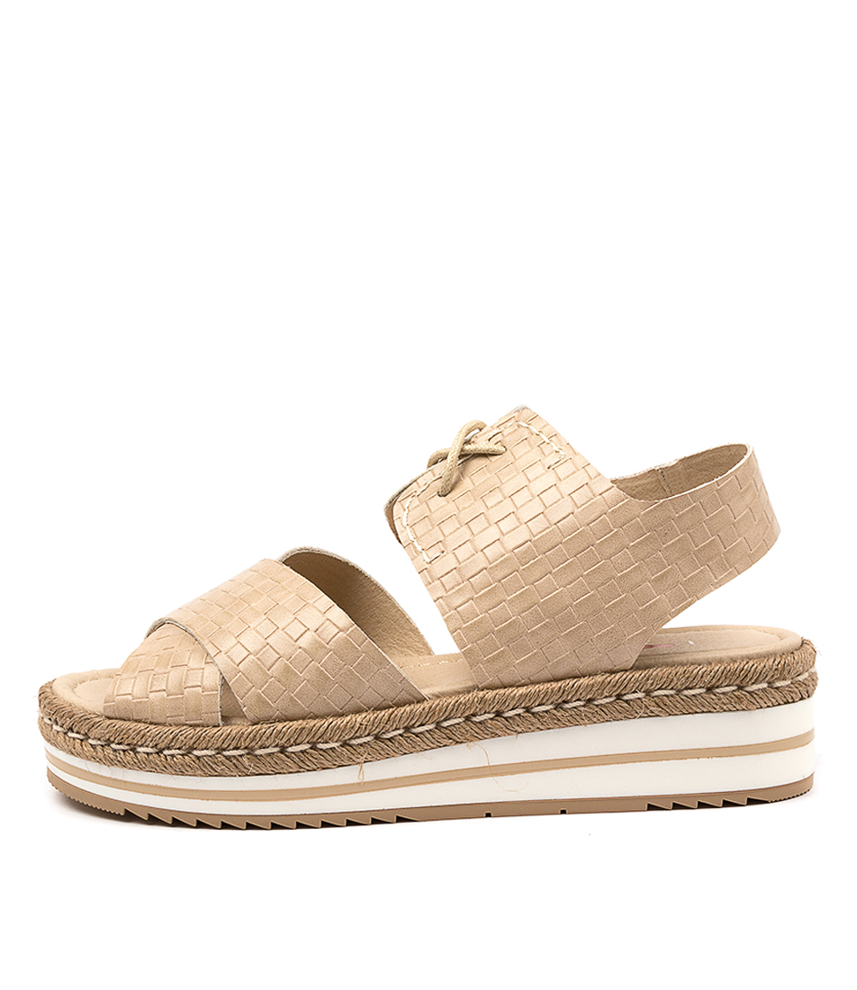Buy I Love Billy Arma Il Stone Weave Flat Sandals online with free shipping