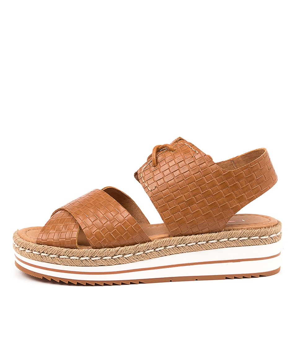 Buy I Love Billy Arma Il Tan Weave Flat Sandals online with free shipping