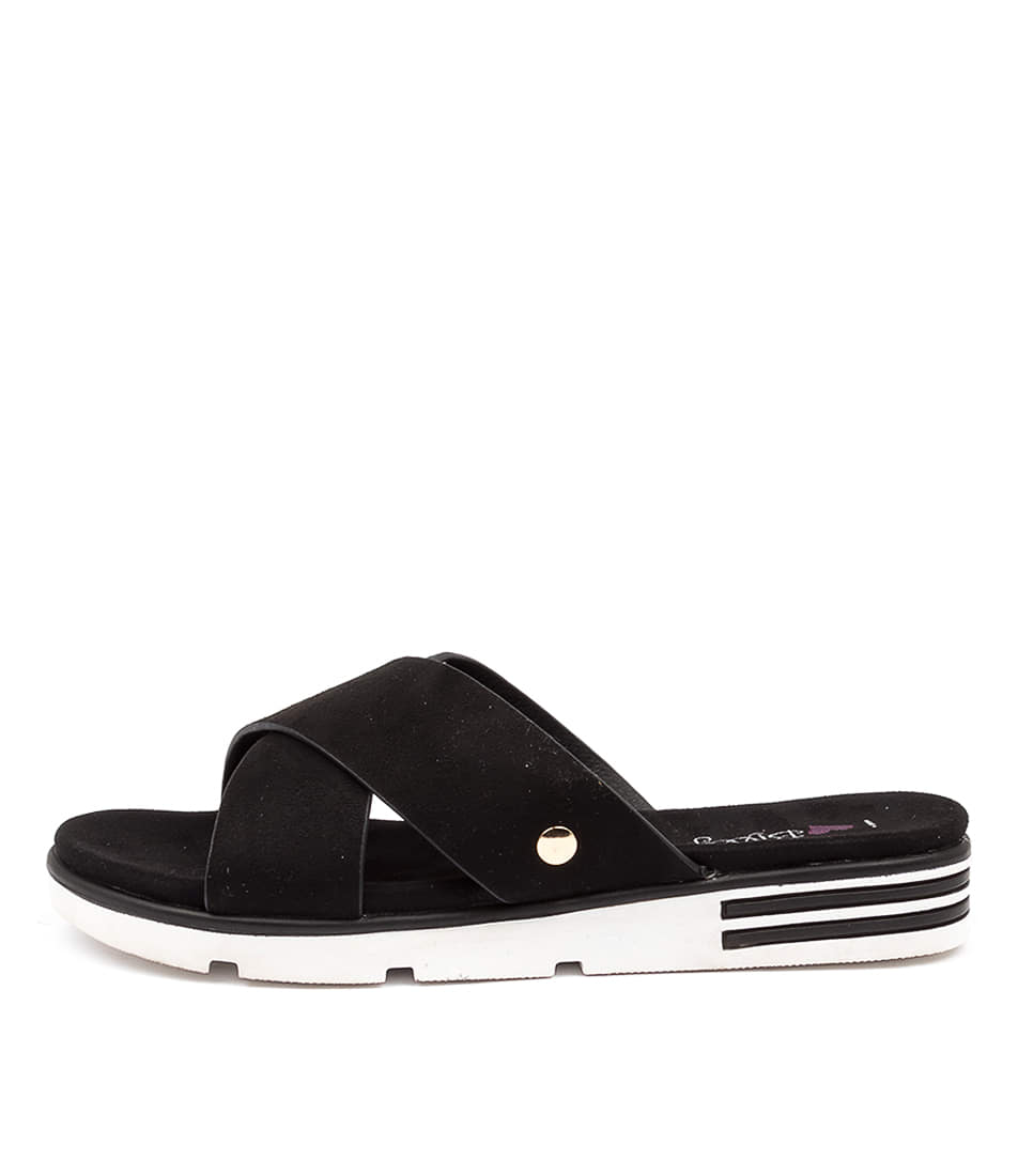 Buy I Love Billy Benbatl Il Black Flat Sandals online with free shipping