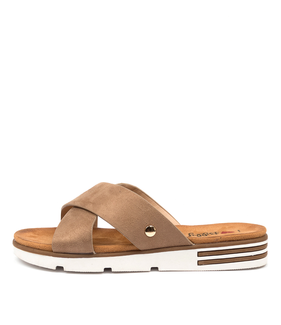 Buy I Love Billy Benbatl Il Taupe Flat Sandals online with free shipping