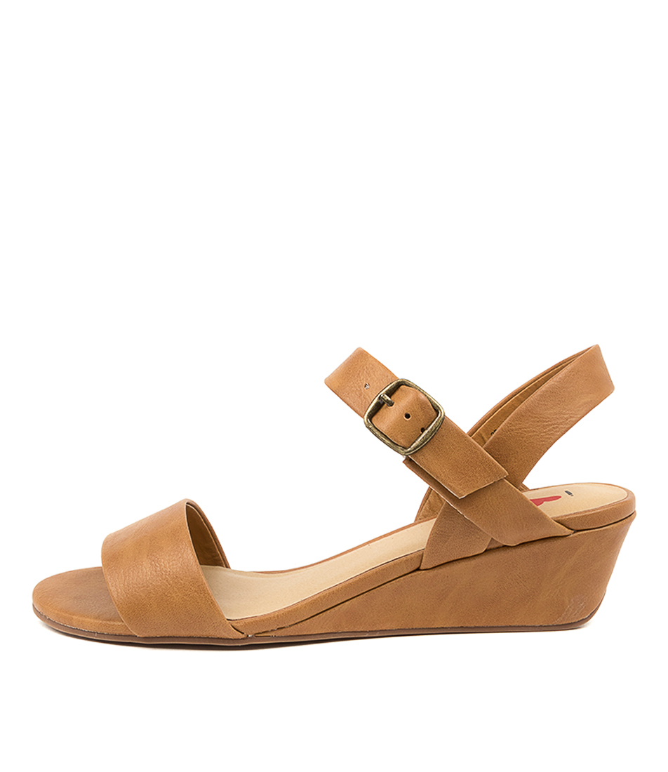 Buy I Love Billy Bader Il Tan Heeled Sandals online with free shipping