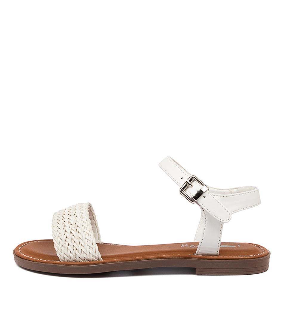 Buy I Love Billy Elizabeth Il White Flat Sandals online with free shipping