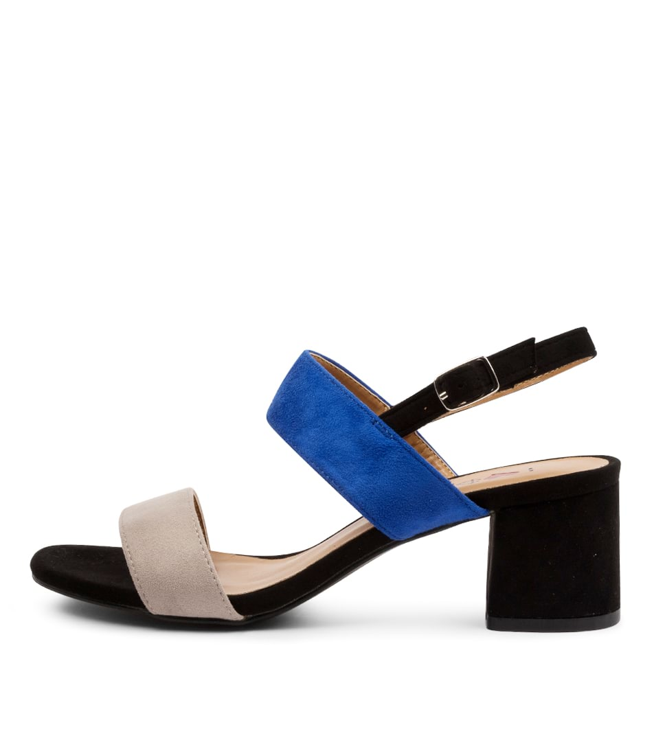Buy I Love Billy Elanora Il Taupe Cobalt Black Heeled Sandals online with free shipping
