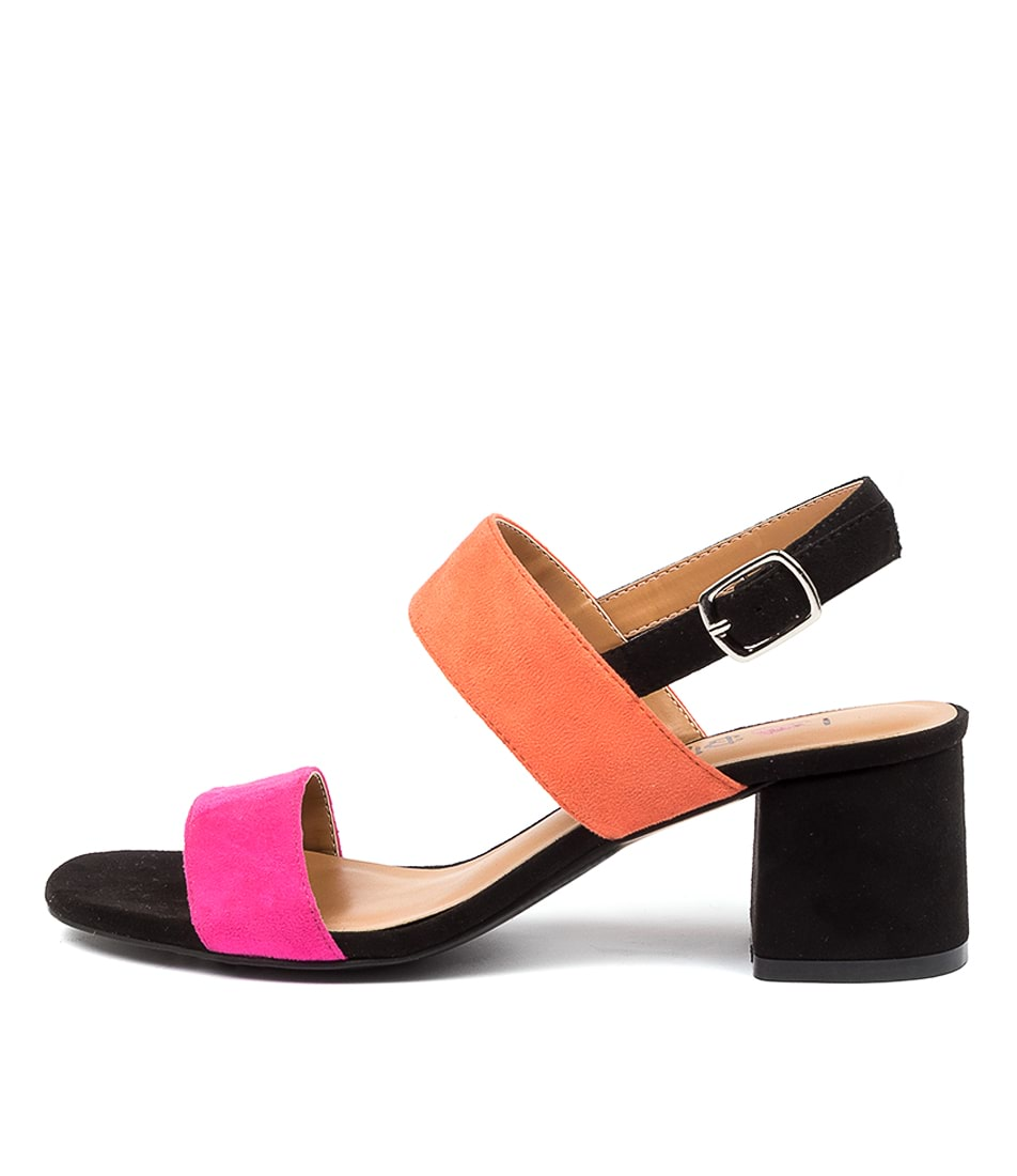 Buy I Love Billy Elanora Il Fuschia Orange Black Heeled Sandals online with free shipping