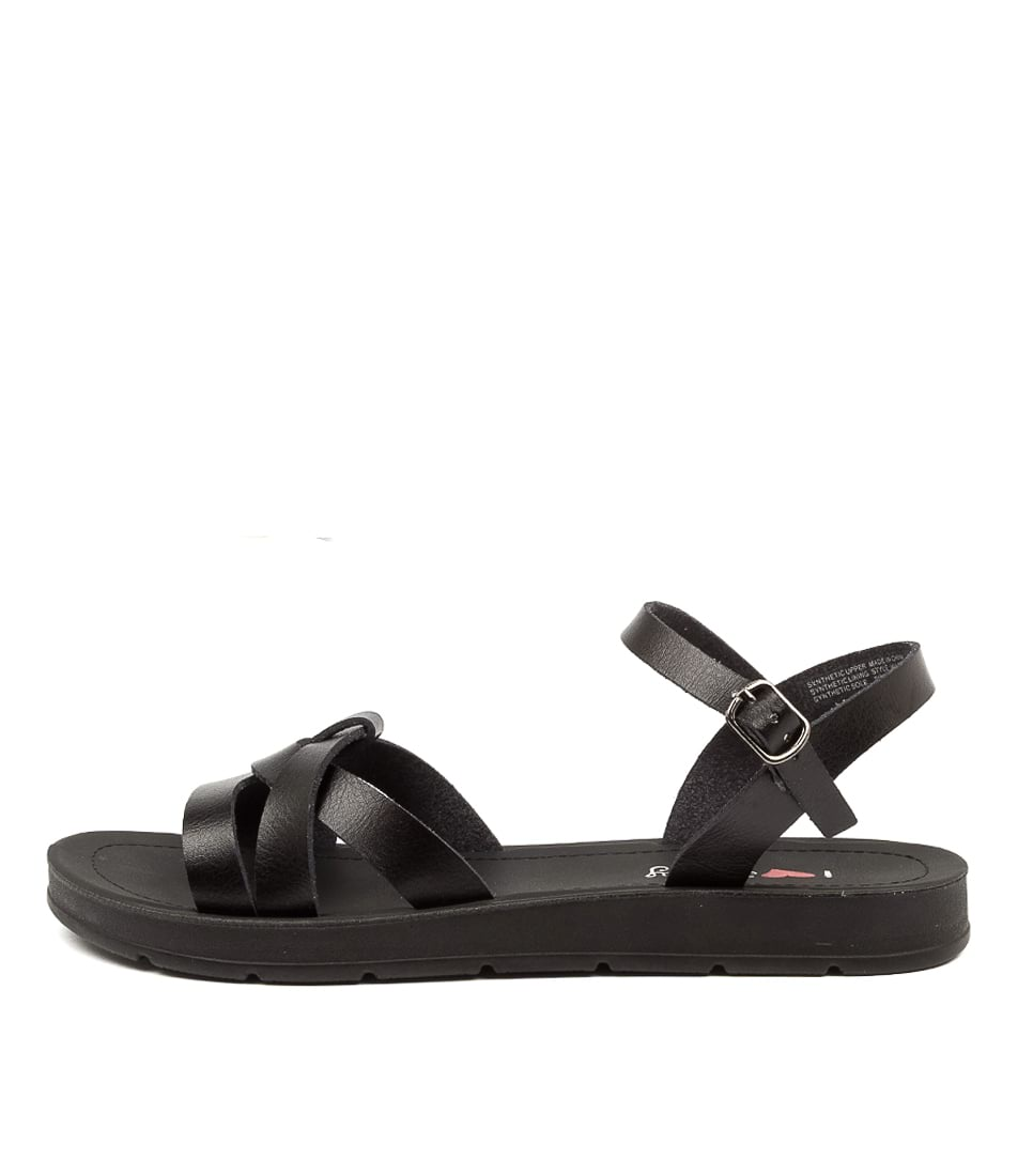 Buy I Love Billy Milovra Il Black Flat Sandals online with free shipping