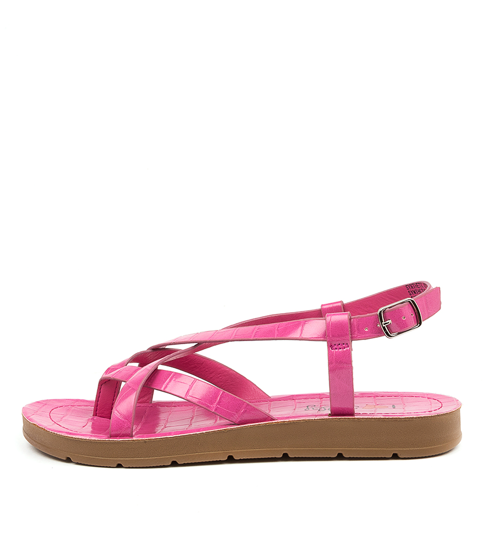Buy I Love Billy Mighty Il Pink Croc Flat Sandals online with free shipping