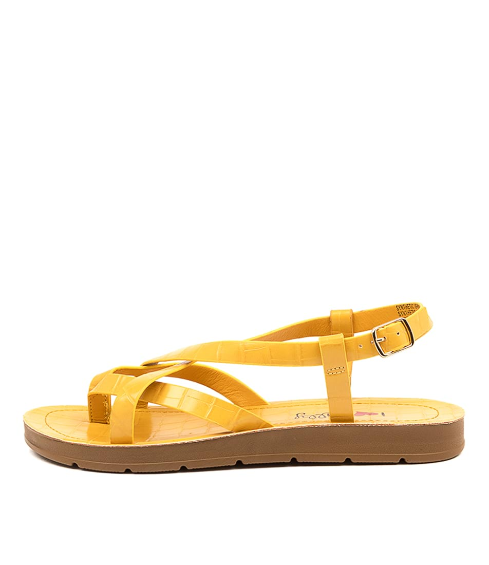 Buy I Love Billy Mighty Il Yellow Croc Flat Sandals online with free shipping