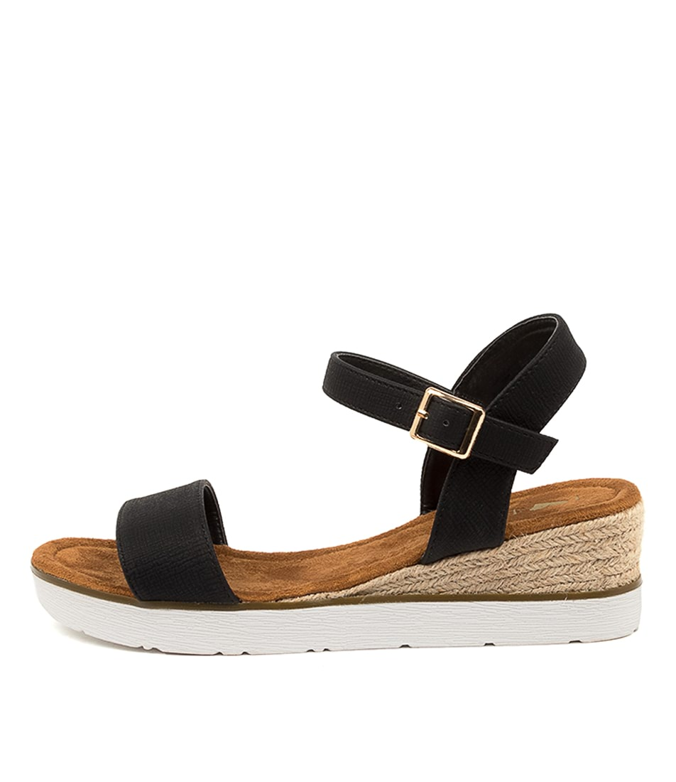 Buy I Love Billy Oumia Il Black Stamp Heeled Sandals online with free shipping