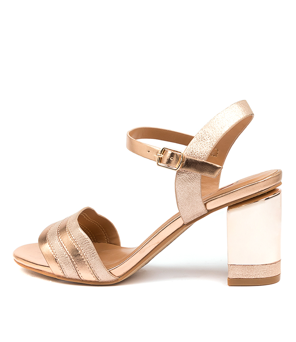 Buy I Love Billy Plenty Il Rose Gold Heeled Sandals online with free shipping
