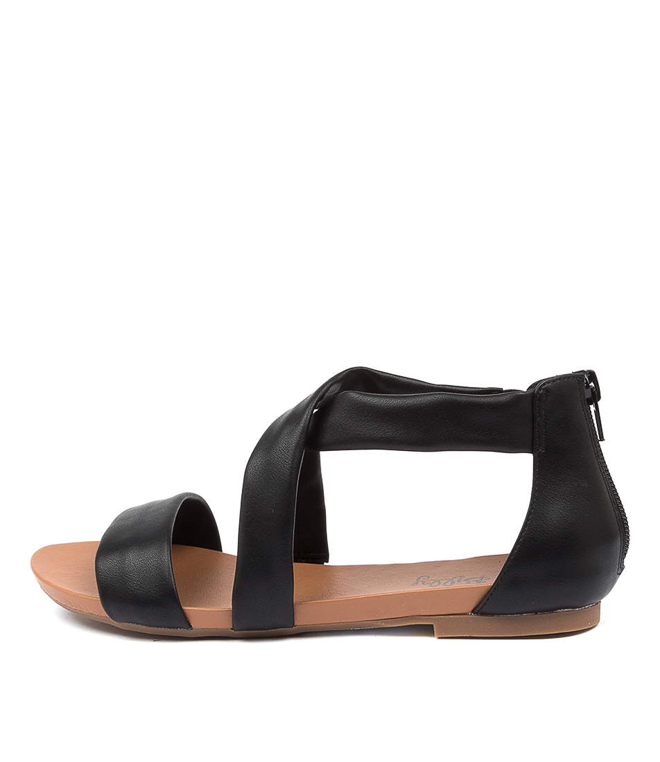 Buy I Love Billy Siantha Il Black Flat Sandals online with free shipping
