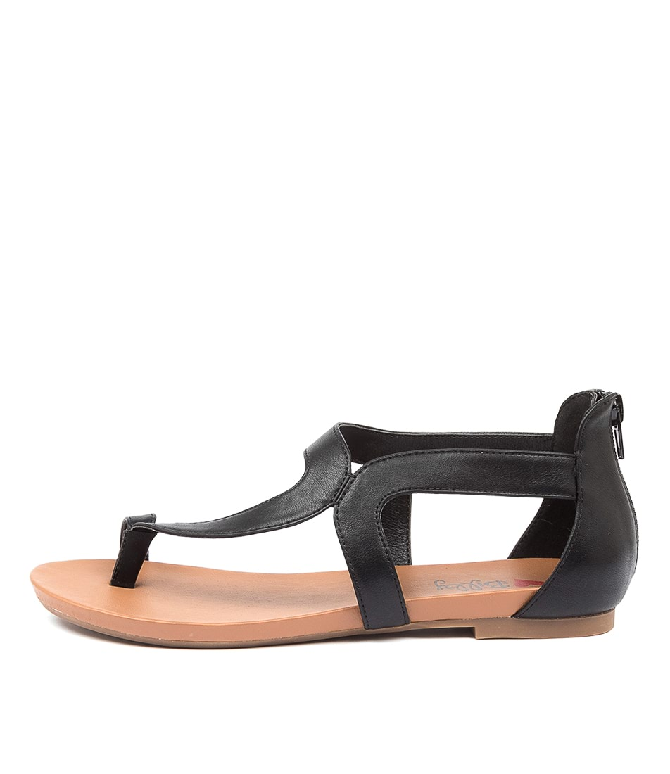 Buy I Love Billy Sandee Il Black Flat Sandals online with free shipping