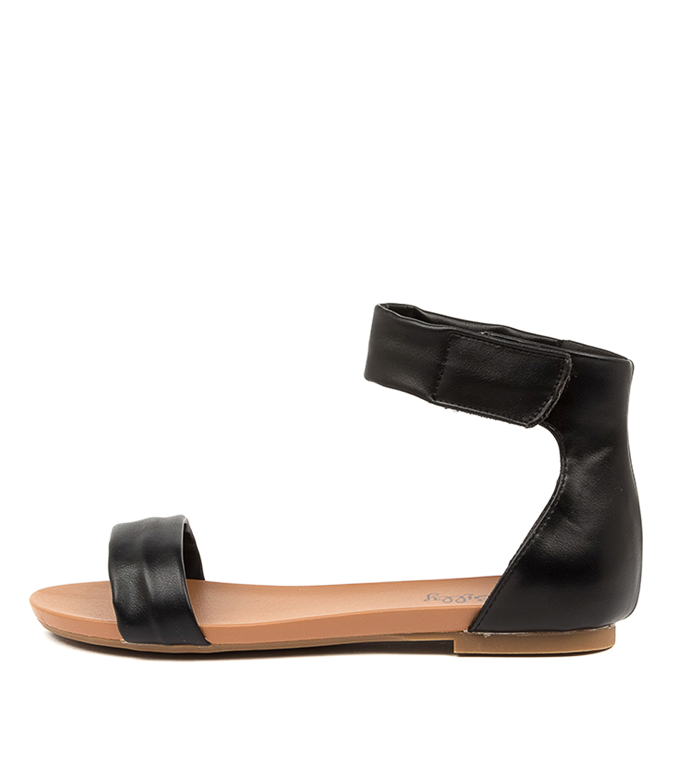 Buy I Love Billy Shomas Il Black Flat Sandals online with free shipping