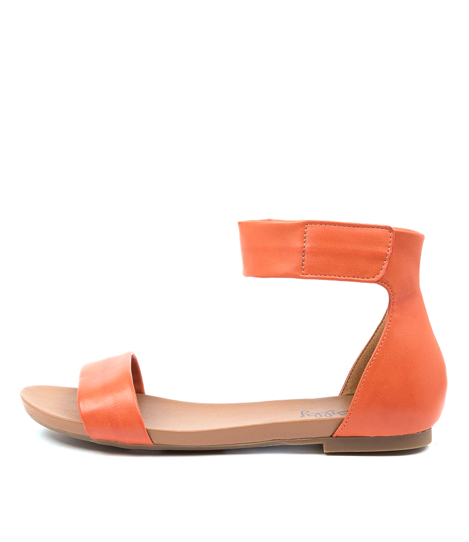 Buy I Love Billy Shomas Il Orange Flat Sandals online with free shipping