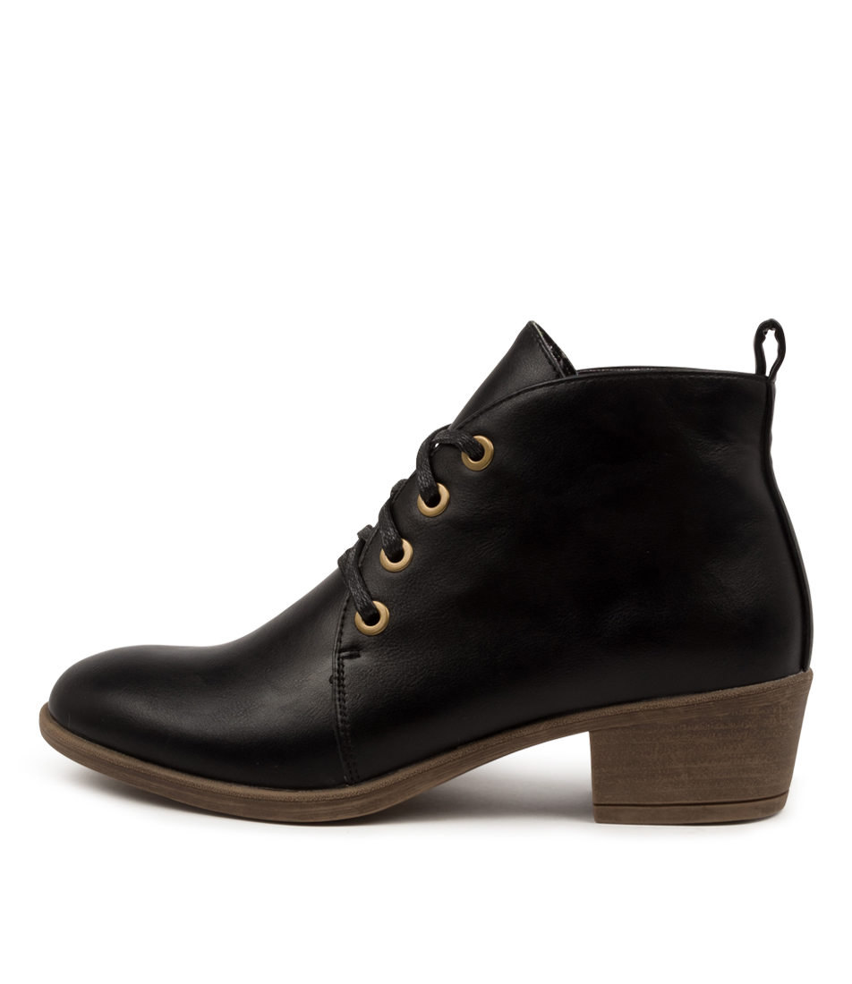 Buy I Love Billy Arenas Il Black Natural Heel Ankle Boots online with free shipping