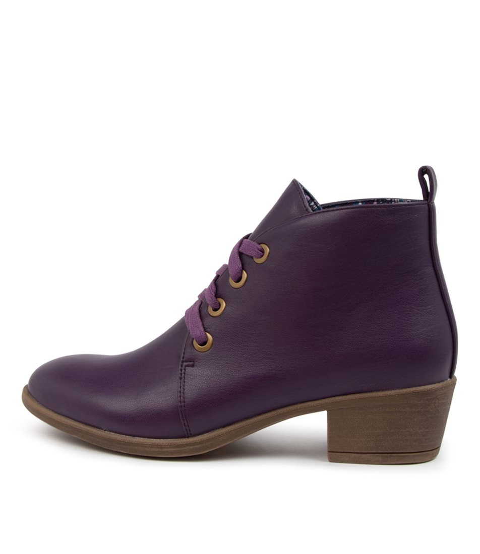 Buy I Love Billy Arenas Il Purple Ankle Boots online with free shipping