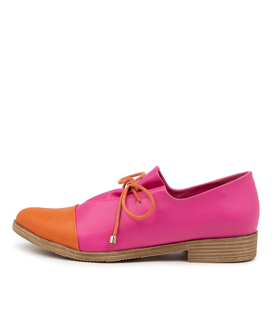 Buy I Love Billy Keliats Il Orange Fuchsia Flats online with free shipping