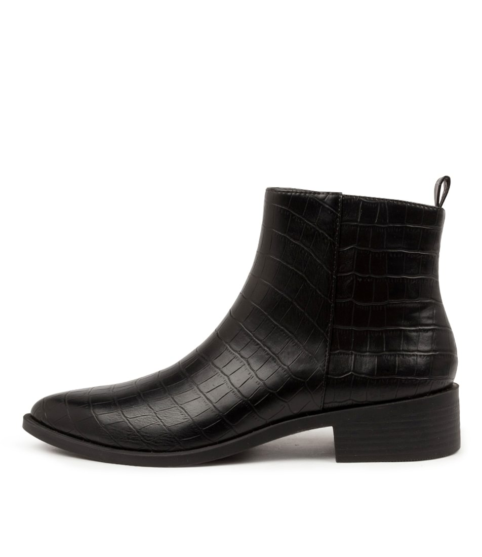 Buy I Love Billy Salla Il Black Croc Ankle Boots online with free shipping