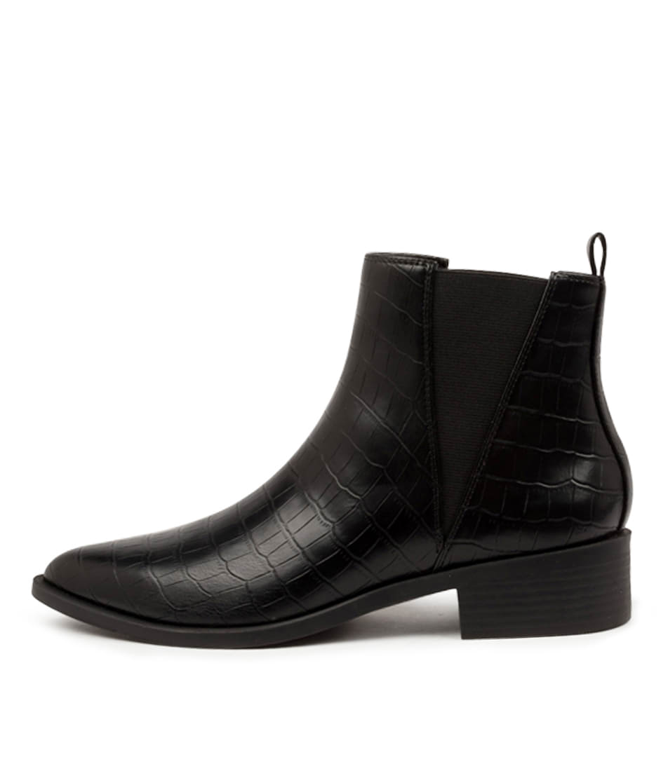 Buy I Love Billy Seroma Il Black Croc Ankle Boots online with free shipping