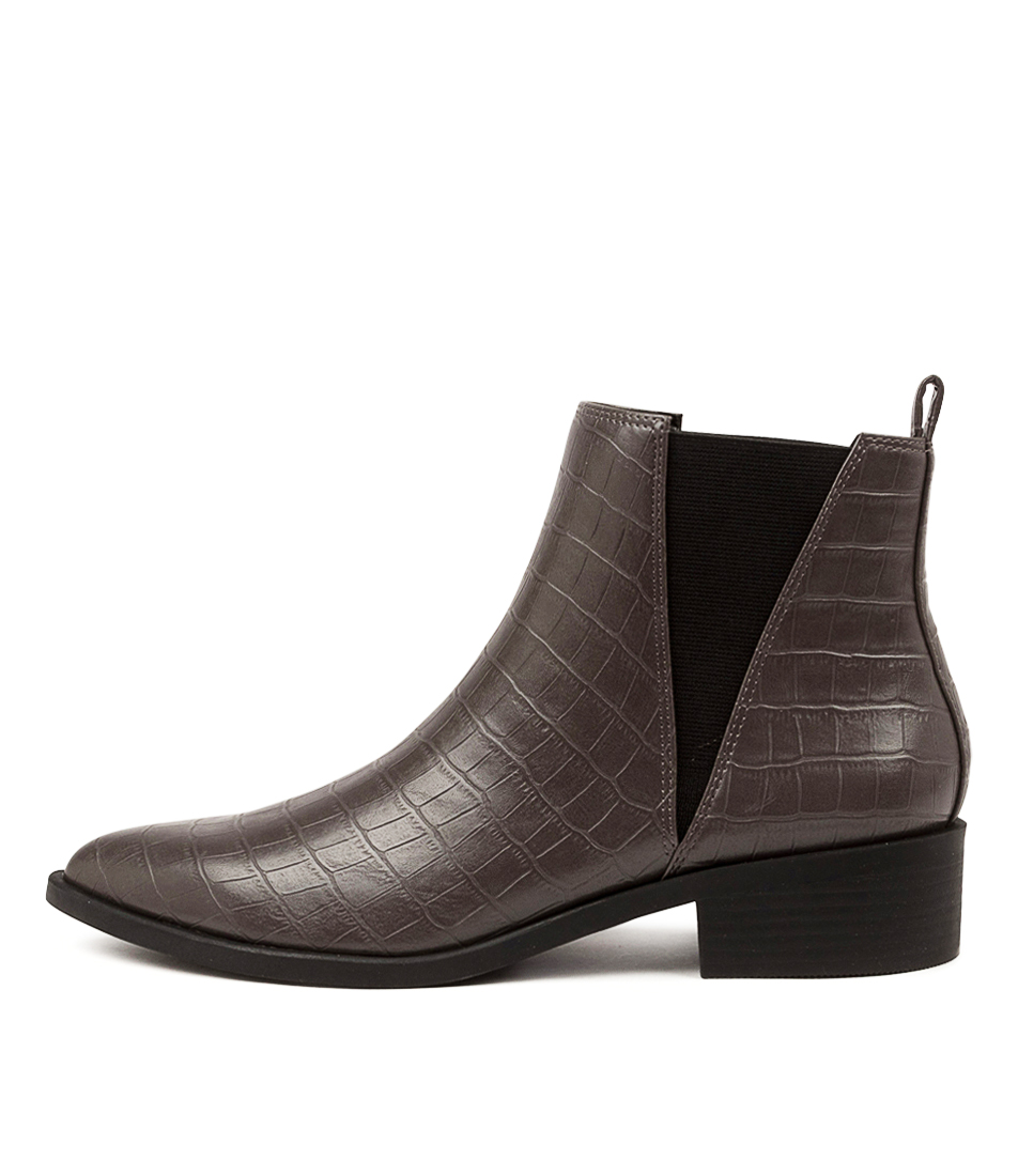 Buy I Love Billy Seroma Il Grey Croc Ankle Boots online with free shipping