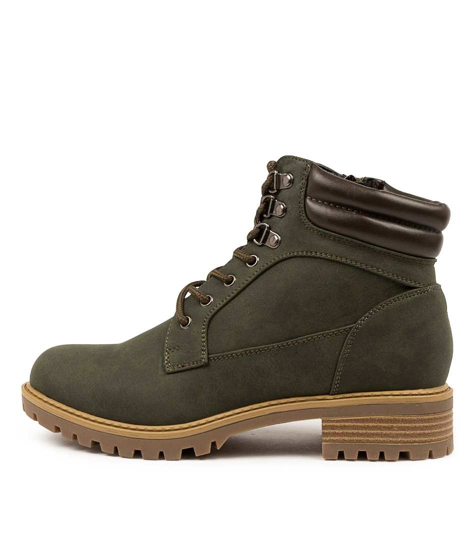 Buy I Love Billy Anitos Il Khaki Ankle Boots online with free shipping