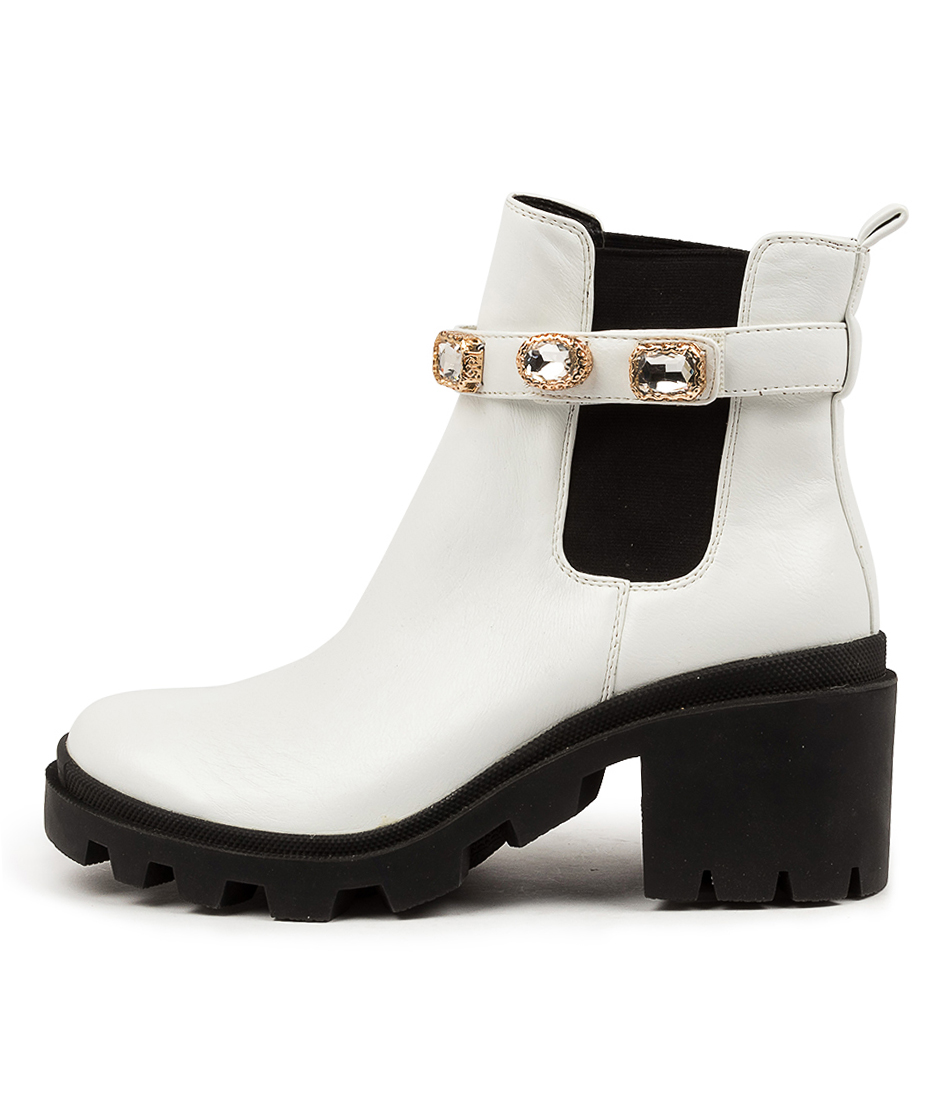 Buy I Love Billy Citation Il White Ankle Boots online with free shipping