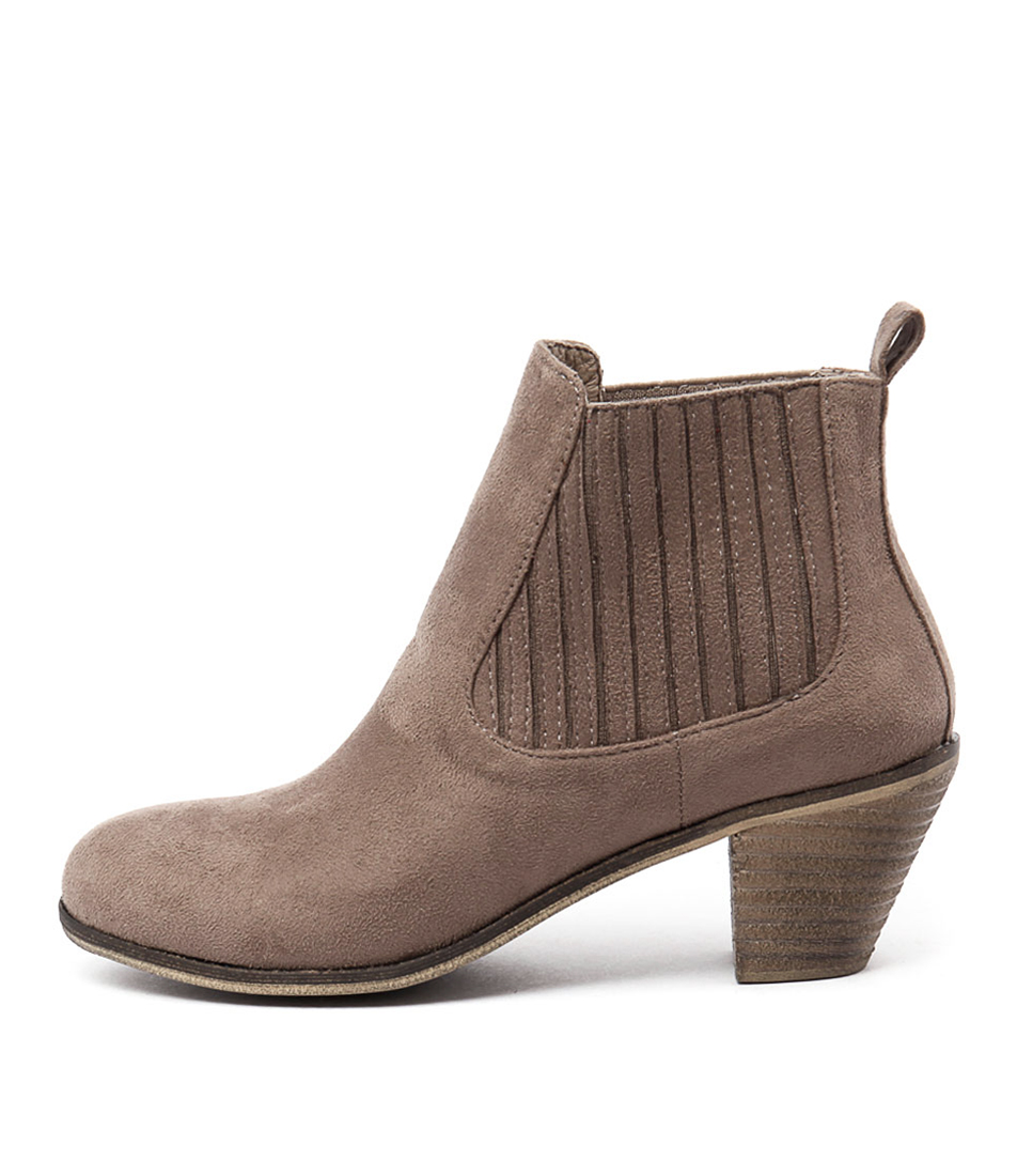 I Love Billy Riptide Taupe Ankle Boots