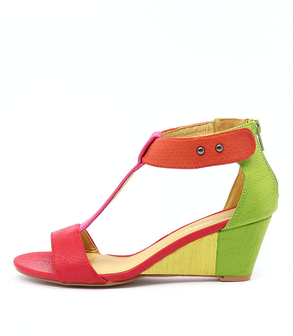 I Love Billy Bazzy Red Bright Multi Sandals