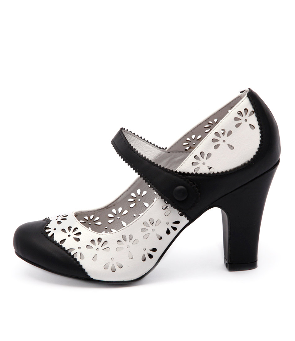 I Love Billy Tanio Black White Casual Heeled Shoes