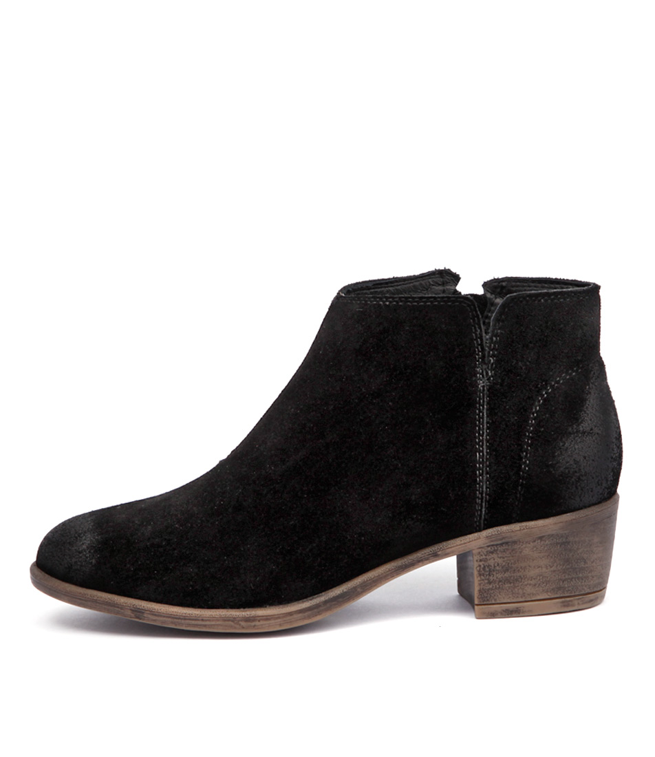 I Love Billy Abley Black Casual Ankle Boots