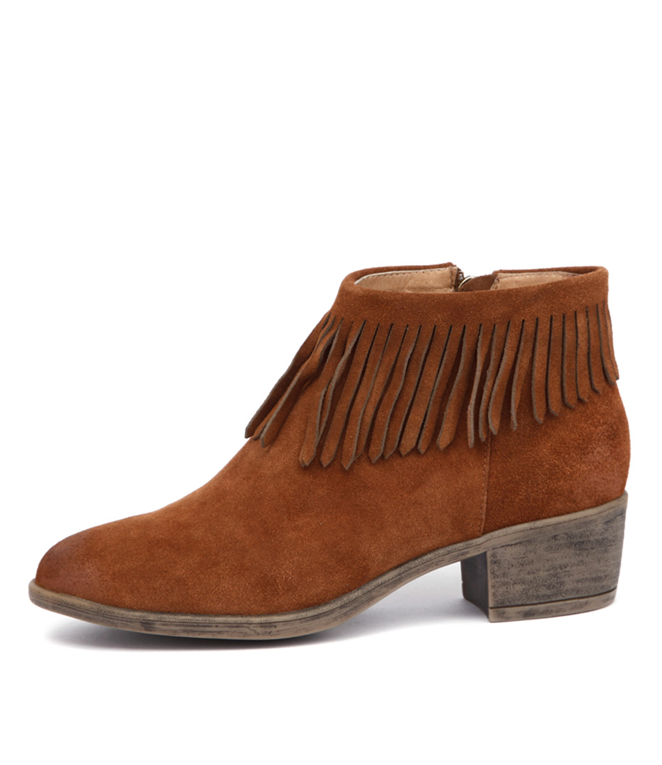I Love Billy Alyssa Cognac Ankle Boots