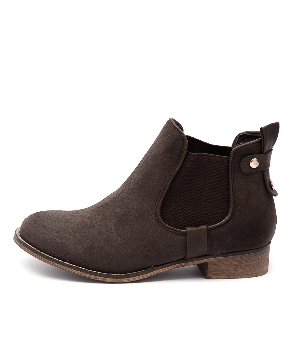 I Love Billy Saunders Espresso Casual Ankle Boots