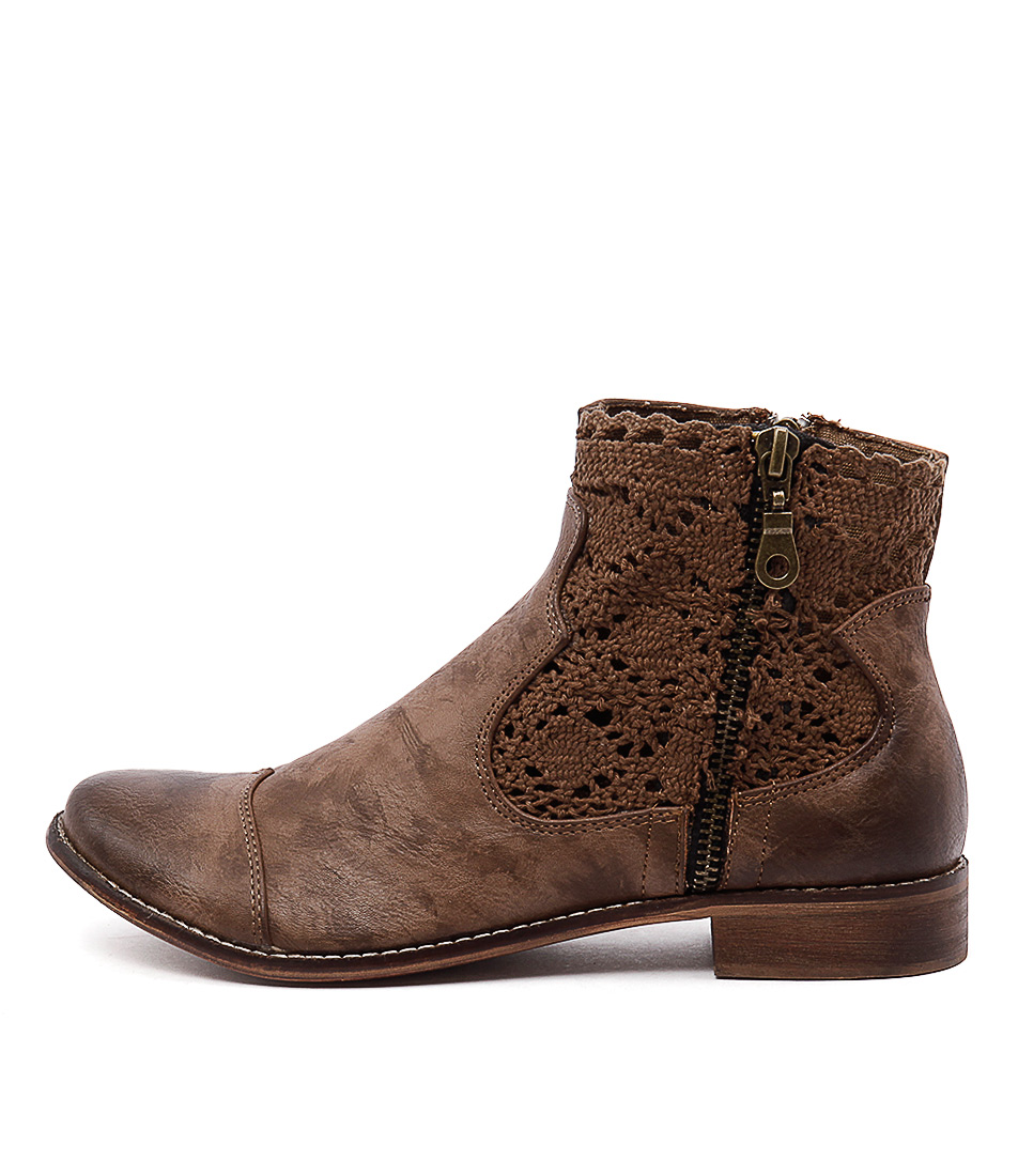 I Love Billy Flutter Light Mocca Casual Ankle Boots