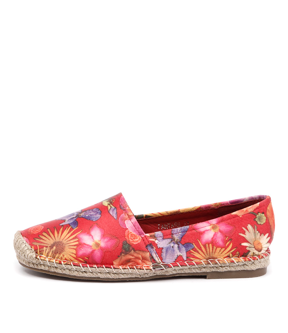 I Love Billy Fantare Red Flower Flat Shoes