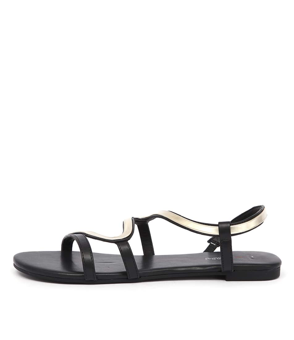 I Love Billy Olour Black Sandals