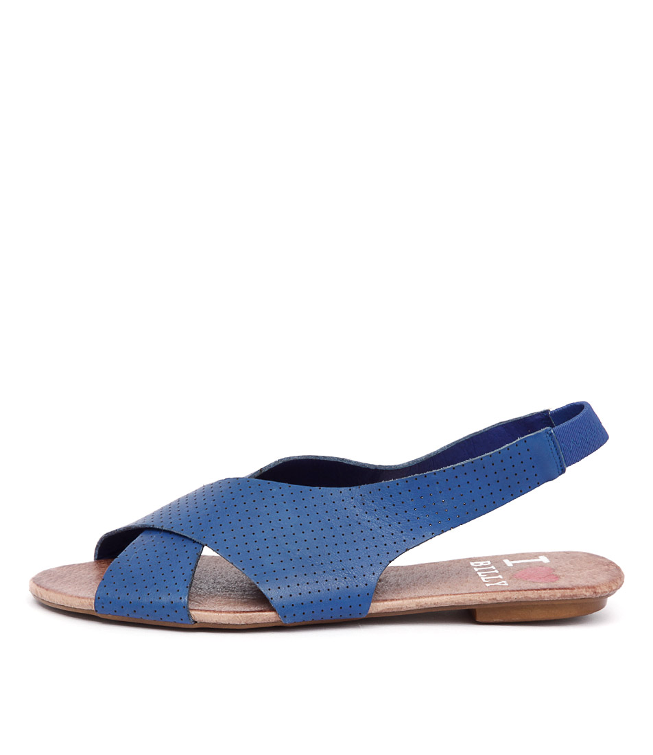 I Love Billy Iota Cobalt Sandals