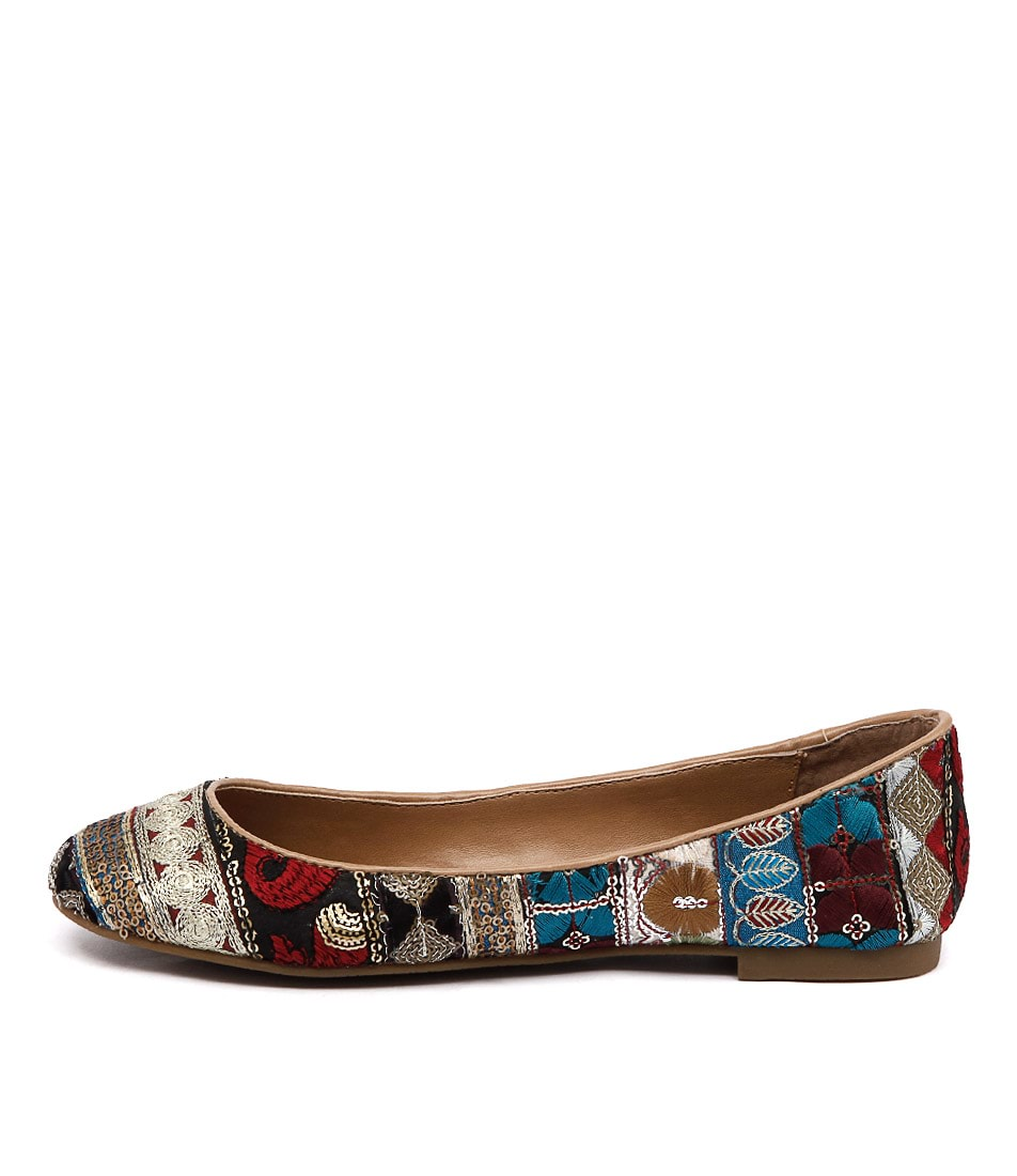 I Love Billy Tempo Gold Multi Casual Flat Shoes