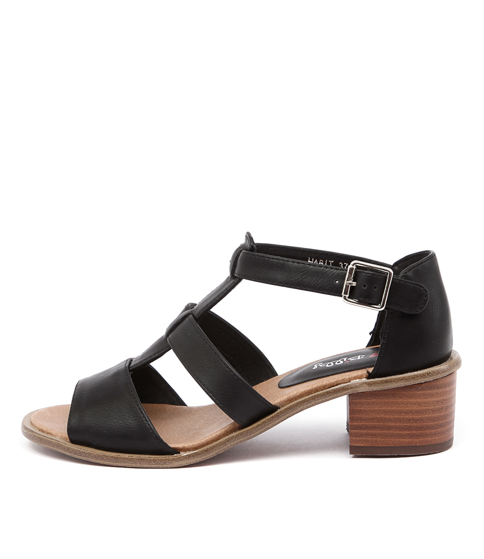 I Love Billy Habit Black Sandals