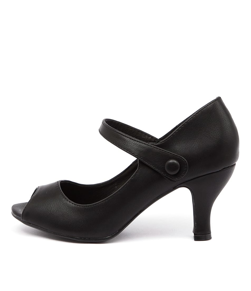 I Love Billy Raves Black Casual Heeled Shoes