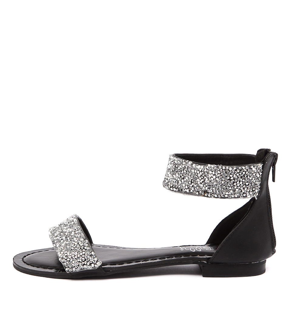 I Love Billy Shelina Black Silver Sandals