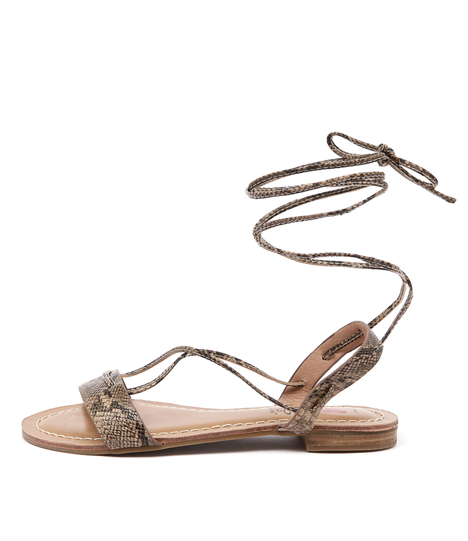 I Love Billy Shawai Natural Flat Sandals